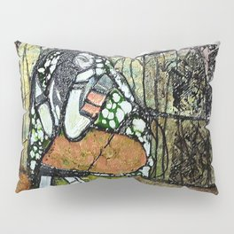 Seclusion - Mixed Media Pebeo Abstract Modern Art, 2015 Pillow Sham