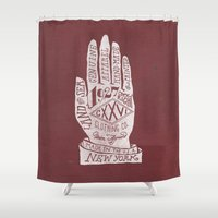 hand Shower Curtains featuring Hand by Jon Contino