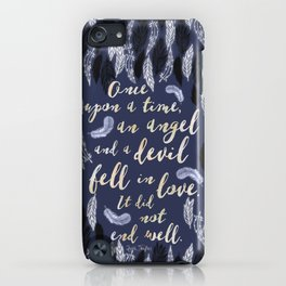 Daughter of Smoke and Bone quote design iPhone Case