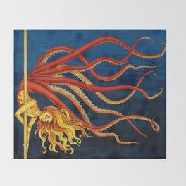 Pole Creatures - Mermaid Throw Blanket