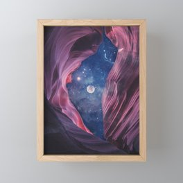 Grand Canyon with Space Collage Framed Mini Art Print