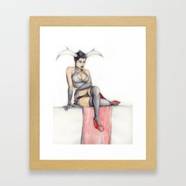 Horned Beauty Framed Art Print