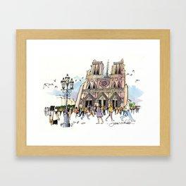 Notre Dame, Paris Framed Art Print