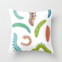 Chubby Caterpillars Throw Pillow