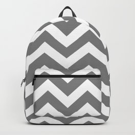 Gray (HTML/CSS gray) - grey color - Zigzag Chevron Pattern Backpack