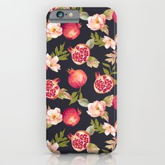 Pomegranate patterns - floral roses fruit nature elegant pattern iPhone 6s Slim Case