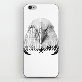 Eagle Print Quote Text, Eagle Liberty Quote iPhone Skin