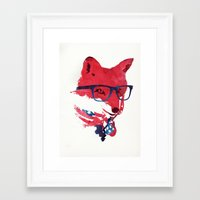 american Framed Art Prints featuring American Fox by Robert Farkas