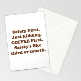 Safety First Stationery Cards