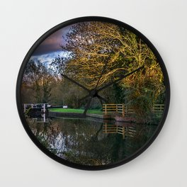 Autumn Reflections On The Kennet Wall Clock