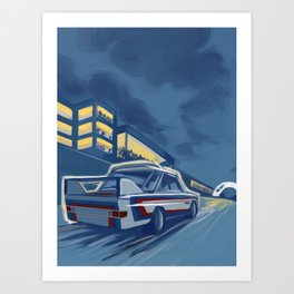 Bavarian Motor Works 3.0 CSL 1973 Art Print