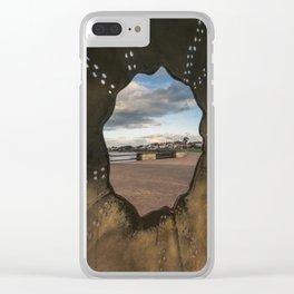 Irish landscape through a shell Clear iPhone Case