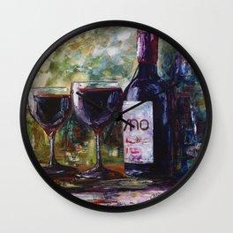 """Aged Wine"" Wall Clock"