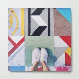 bright tiles Metal Print