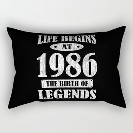 Life Begins 1986 The Birth Of Legend 35th Birthday Rectangular Pillow