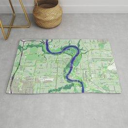 Edmonton Map Rug