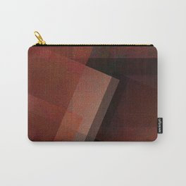 Artsy Amber - Digital Geometric Texture Carry-All Pouch