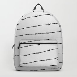 Cool gray white and black barbed wire pattern Backpack
