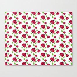 Ladybird pattern Canvas Print