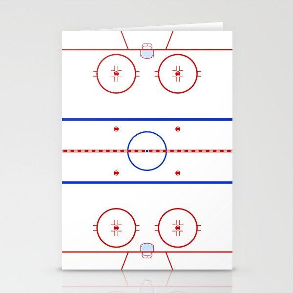 Ice Hockey Rink Diagram Stationery Cards By Waywardtees Society6