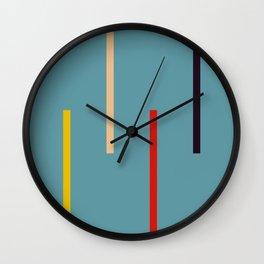 Abstract Classic Stripes Mirian Wall Clock