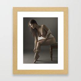 beige stockings 07 Framed Art Print