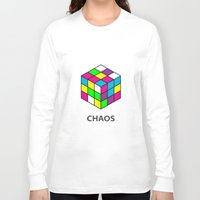 chaos Long Sleeve T-shirts featuring Chaos by Dizzy Moments