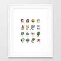 hotline miami Framed Art Prints featuring Hotline Miami by Jarvis Glasses