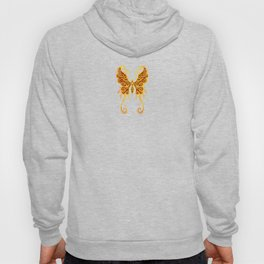 Intricate Red and Yellow Vintage Tribal Butterfly Hoody