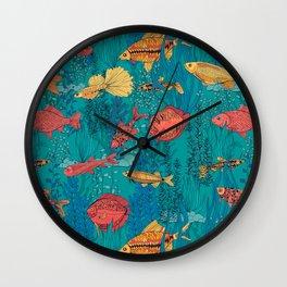 Fish garden Wall Clock