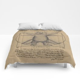 The Vitruvian Bear Comforters