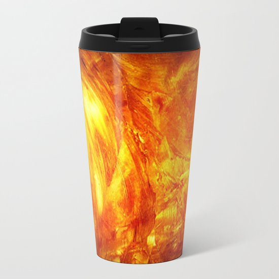Surface Of The Sun - Leo - Science - Hipster - Hot Metal Travel Mug
