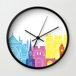 Exeter skyline pop Wall Clock