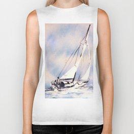 Sydney  to Hobart  Yacht Race        by Kay Lipton Biker Tank