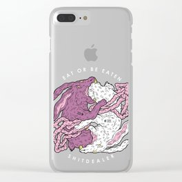 EAT OR BE EATEN Clear iPhone Case