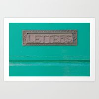 letters Art Prints featuring Letters by Riot Jane
