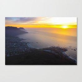 Chasing the sun Canvas Print