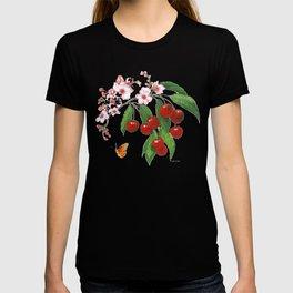 Cherries on Vintage  T-shirt