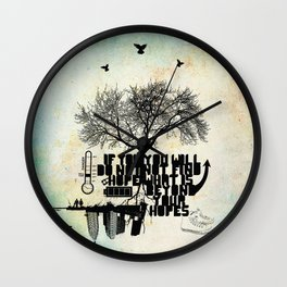 H.O.P.E Wall Clock