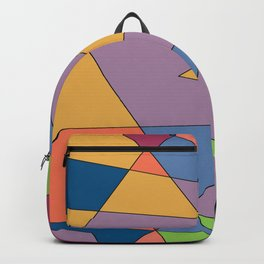 abstract colors and gray scale Backpack