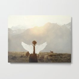 Angel in the mountains Metal Print