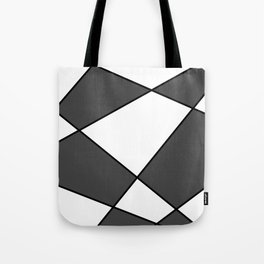 Geometric abstract - gray, black and white. Tote Bag