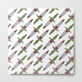 taditional Dagger pattern Metal Print