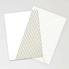 Tan & White Stripes  Stationery Cards