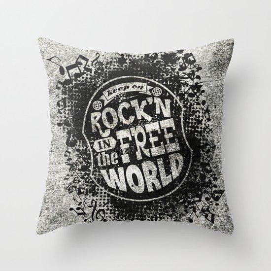Keep On Rock'n!  Throw Pillow