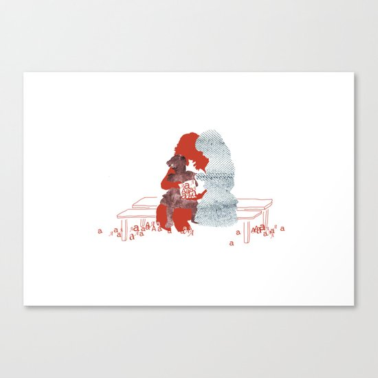 mother and daughters Canvas Print
