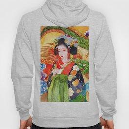 Watercolor Japanese Beauty - Oiran Hoody