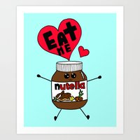 nutella Art Prints featuring Nutella by Aurelie