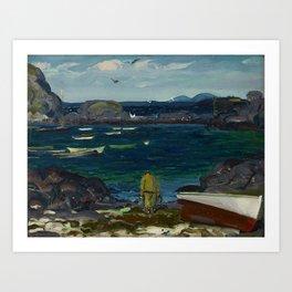 The Harbor, Monhegan Coast, Maine, 1913 Art Print