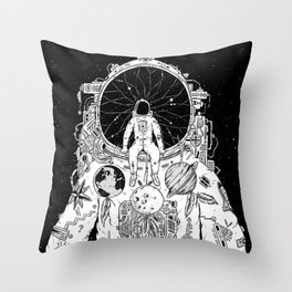 The Dreamer (B/W) Throw Pillow